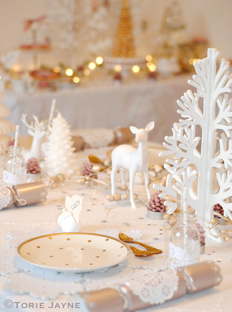 white tablescape scene