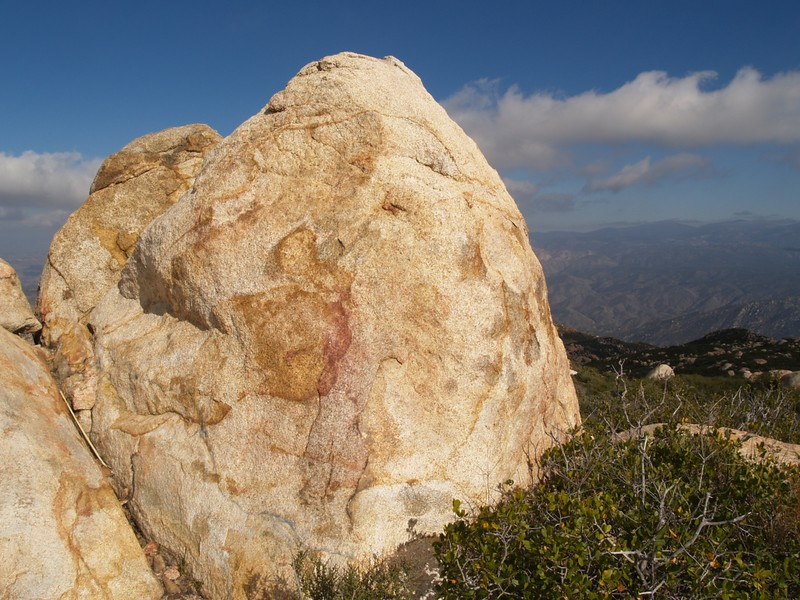Summit Block of El Cajon Mountain, elevation 3675 feet
