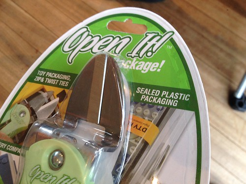 Special tool specifically for opening difficult to open sealed packaging packaged in that difficult to open sealed packaging