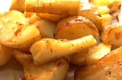 vegetable(0.0), cooking plantain(0.0), produce(0.0), french fries(0.0), potato wedges(0.0), potato(1.0), food(1.0), dish(1.0), cuisine(1.0), root vegetable(1.0),