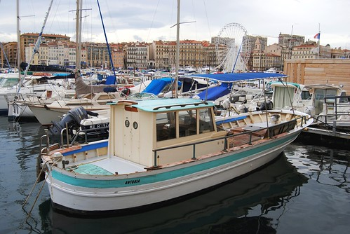 One of many fishing boats in the Old Port