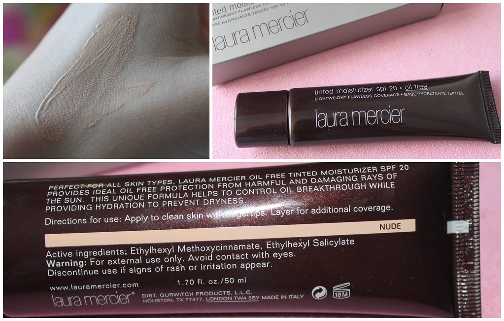 Laura Mercier Tinted Moisturiser spf 20 sephora natural light coverage australian beauty review ausbeautyreview blog blogger myer medium lightweight flawless base swatch nude color colour