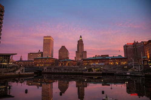 Pink Skyline by GoProvidenceRI
