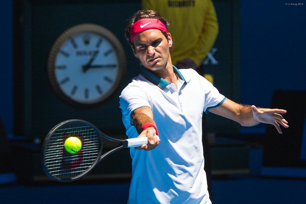 Roger Federer 1st round match Australian Open 2014