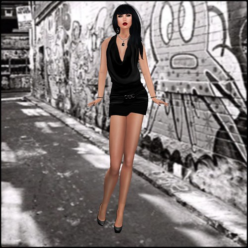 blah.BLAH.blah Paige Cowlneck Buckle Dress-5 Color Hud by Orelana resident