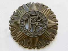 belt buckle(0.0), money(0.0), buckle(0.0), medal(0.0), button(0.0), badge(1.0), brass(1.0),