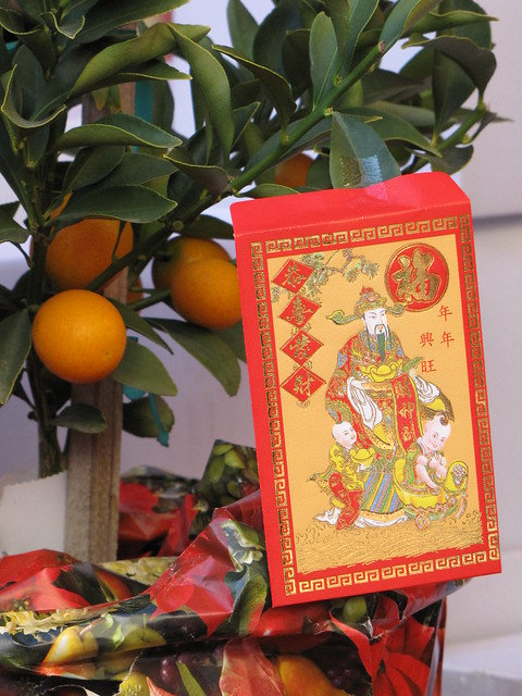 Lucky Red Envelope and Tangerines