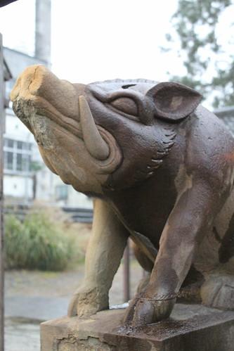 Boar statues
