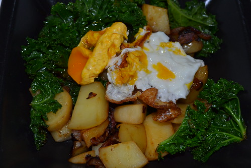 Kale and fuet hash