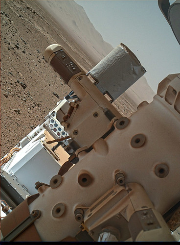 Curiosity sol 536 MAHLI - REMS stack