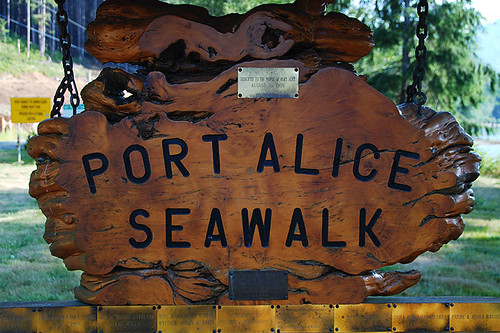 Port Alice Seawalk, Port Alice, Neroutsos Inlet, Vancouver Island, British Columbia, Canada