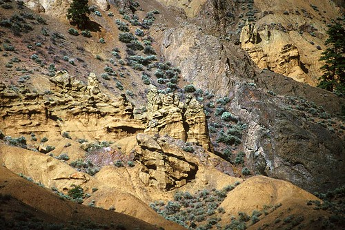 Hoodoos in Kamloops, Thompson Valley, Thompson Okanagan, British Columbia, Canada