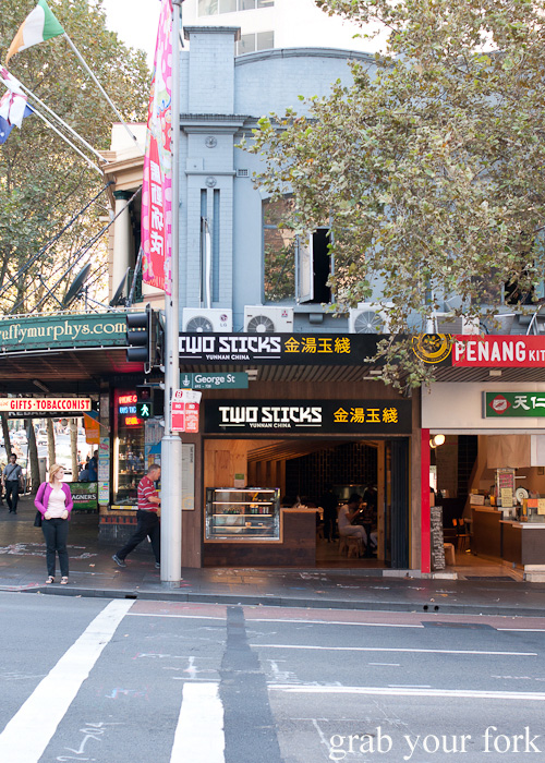 Two Sticks Yunnan China on George Street Sydney