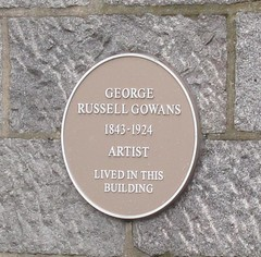 Photo of George Russell Gowans yellow plaque