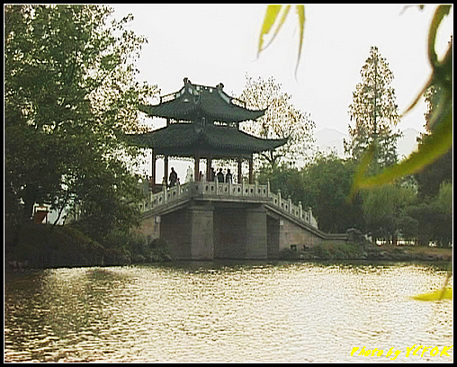 杭州 西湖 (其他景點) - 247 (在西湖十景之 蘇堤上望向岳湖上的玉帶橋)
