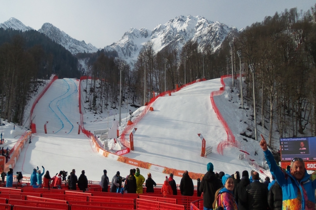 super G course at Sochi