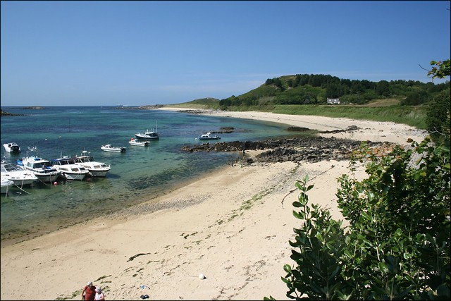 Herm harbour beach