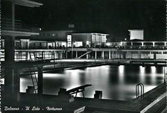 postcard - bolzano - il lido - notturno - 1958