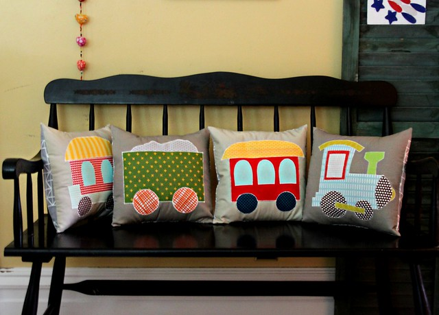 A Train Pillow Set in Moda!