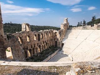 Изображение Herodes Theatre вблизи Афины. greek europe athens greece attica