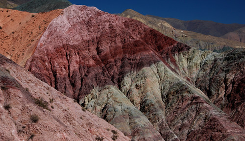 the hill of seven colours in Purmamarca in Northwest Argentina