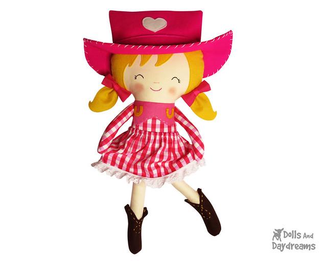 cowgirl Sally Sue sewing pattern ranch barn dancer cute adorable diy handmade copy