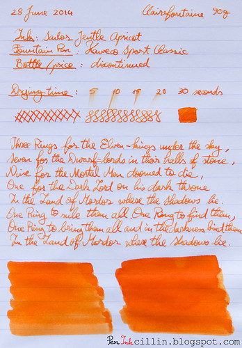 Sailor Jentle Apricot on Clairefontaine
