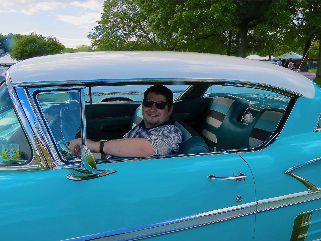 Al sitting in the Impala