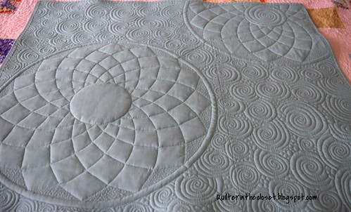 back of challenge quilt