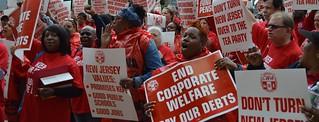 CWA Pension protest (NJ)
