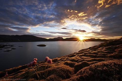 sunset lake nature landscape iceland zonsondergang meer natuur landschap isl landmannalaugar suðurland ijsland fjallabak frostastadvatn