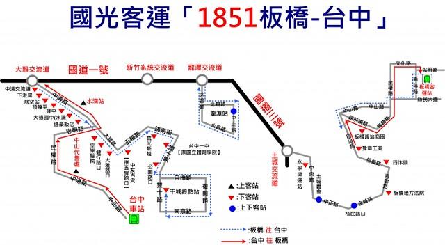 1851板橋-台中路線