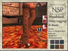 NSP Woodstock Daisy Leggings with Boot - V5