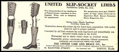 United Slip-Socket Limbs - 1916