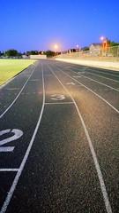 Running the Track at Night (vert)