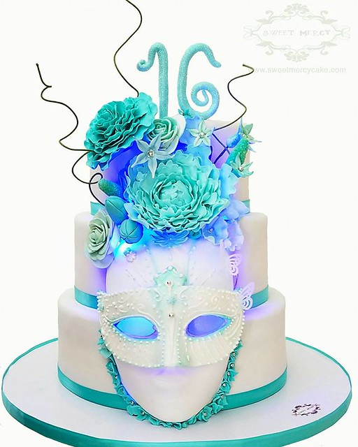 Masquerade Cake by Samantha Lucena Regnström of Sweet Mercy Cake