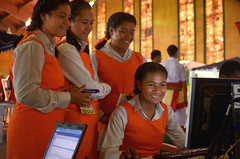 Students in Tonga access the internet using a high-speed broadband connection