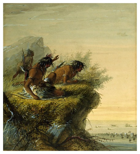 011-Indios Pawnee observando una caravana-Alfred Jacob Miller-1858-1860-Walters Art Museum