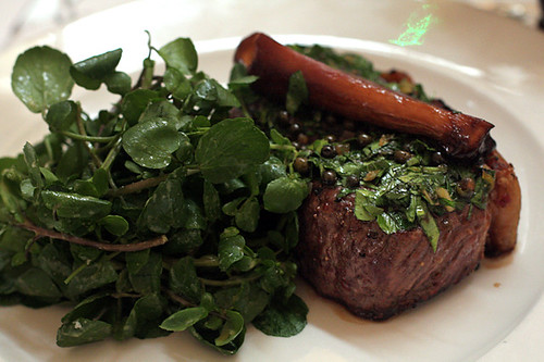 steak and watercress at Nopi
