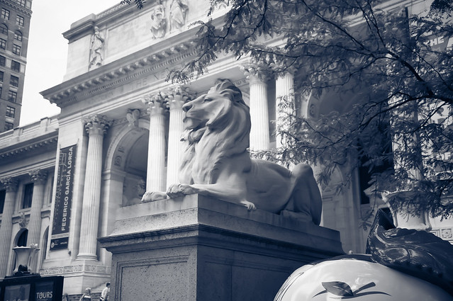 The main branch of the New York Public Library