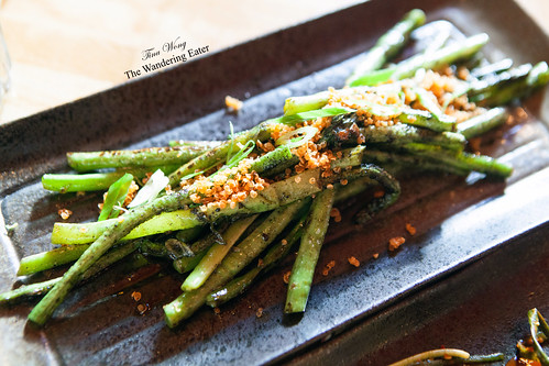 Long Beans – fried quinoa, burnt onion