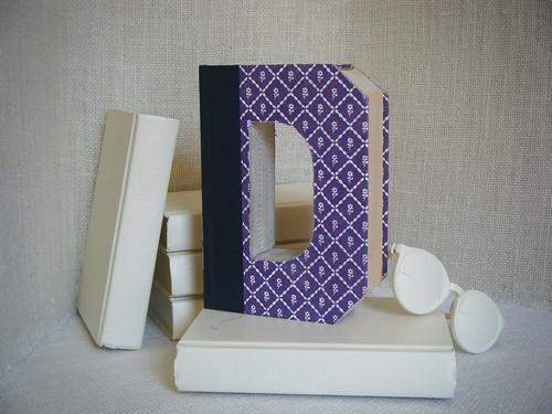 ALPHABET LETTER (D)  Book Art, OoAK, Shabby Chic Home Decor, UPcycled  REcycled REpurposed, Altered Book, Engagement Gift, Bookshelf Decor