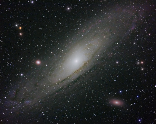 M31 with colour by Mick Hyde