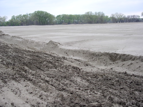 Sand Debris left from the 2011 Flood in Charles Mix County, South Dakota. USDA photo.