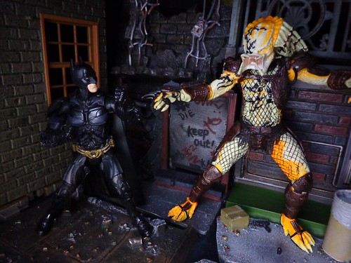 Albino Predator Vs. Batman