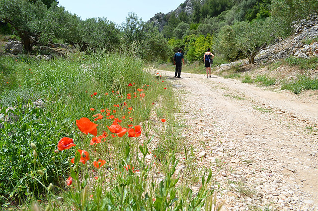 Sime and Andy walking in Hvar, Croatia