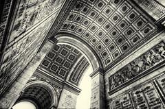 From under l'Arc de Triomphe - Paris