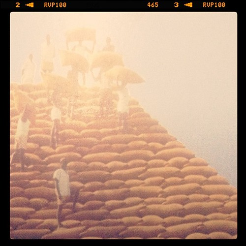 #postcards from #yesteryears. #nigeria of old! The great #groundnut #pyramids of #kano city. #manmade #wonders