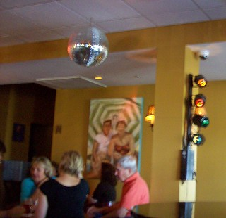 moonstruck bar with mirror ball