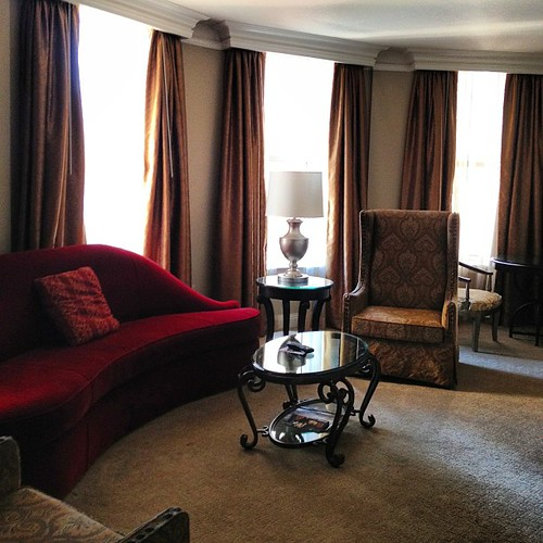 Our suite at the Skirvin this weekend